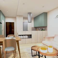 Built-in kitchens by ODROBINA KOLORU PRACOWNIA ARCHITEKTURY WNĘTRZ Joanna Składanowska, Scandinavian MDF
