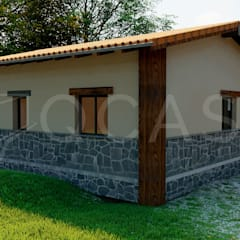 Prefabricated home by QCASA.Madrid. Viviendas industrializadas eficientes de hormigón, Rustic Concrete