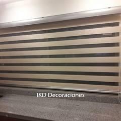 Cortinas DUO de IKD Decoraciones Minimalista Sintético Marrón