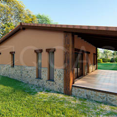 by QCASA.Madrid. Viviendas industrializadas eficientes de hormigón 러스틱 (Rustic) 콘크리트