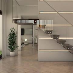 Casa Doral: Escaleras de estilo  por Gabriela Afonso, Moderno