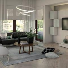 Casa Doral: Salas / recibidores de estilo  por Gabriela Afonso, Moderno