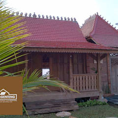 Flat roof توسطOmah Genteng, کانتری آجر