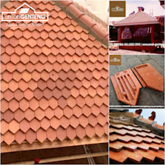 Gable roof by Omah Genteng, Country اینٹوں