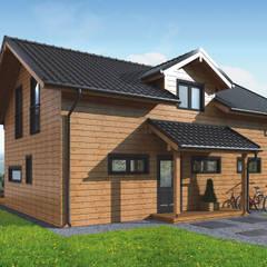 by THULE Blockhaus GmbH - Ihr Fertigbausatz für ein Holzhaus Scandinavian لکڑی Wood effect
