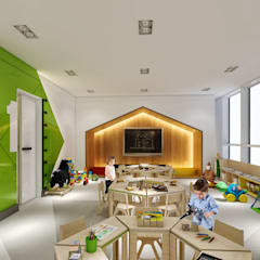 Schools by WALL INTERIOR DESIGN, Modern