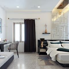 Small bedroom by Monnaie Interiors Pvt Ltd, Asian