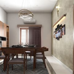 Dining room by Monnaie Interiors Pvt Ltd, Asian