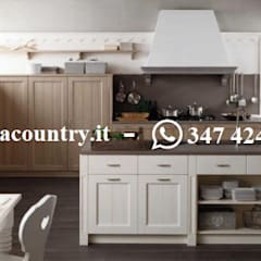 Built-in kitchens by Casa Country - Arredamenti, Scandinavian Solid Wood Multicolored