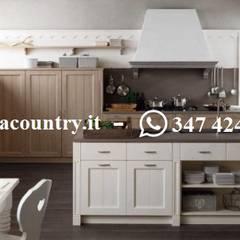 مطبخ ذو قطع مدمجة تنفيذ Casa Country - Arredamenti, إسكندينافي خشب متين Multicolored