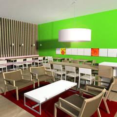 Oficinas y Tiendas de estilo  por SERPİCİ's Mimarlık ve İç Mimarlık Architecture and INTERIOR DESIGN, Tropical Madera Acabado en madera