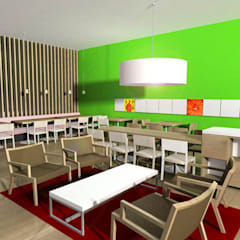 Offices & stores by SERPİCİ's Mimarlık ve İç Mimarlık Architecture and INTERIOR DESIGN, Tropical Wood Wood effect