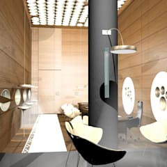 Offices & stores by SERPİCİ's Mimarlık ve İç Mimarlık Architecture and INTERIOR DESIGN, Minimalist Wood Wood effect