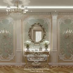 Дизайн-проект интерьера спальни в коттедже в классическом стиле  : Спальни в . Автор – Дизайн-студия элитных интерьеров Анжелики Прудниковой, Классический