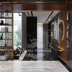 Дизайн-проект дома в Лос-Альтос, Калифорния: Коридор и прихожая в . Автор – Дизайн-студия элитных интерьеров Анжелики Прудниковой, Эклектичный