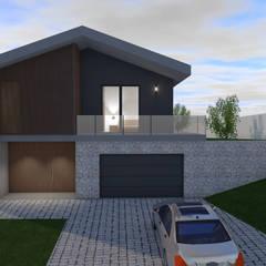 Casa em Pencelo por Estrutura com Detalhe Moderno Betão