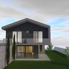 Detached home توسطEstrutura com Detalhe, مدرن بتن مسلح
