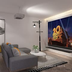 Landed property level 2 Modern living room by Swish Design Works Modern