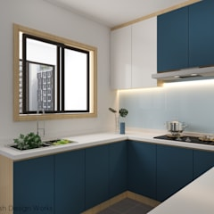Jalan Damai:  Built-in kitchens by Swish Design Works,Modern Plywood