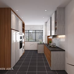 Woodlands St 13:  Built-in kitchens by Swish Design Works,Modern Plywood