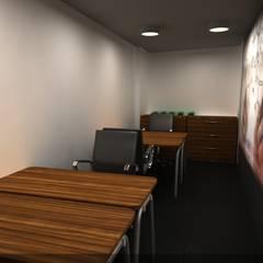 Offices & stores by SERPİCİ's Mimarlık ve İç Mimarlık Architecture and INTERIOR DESIGN, Tropical Wood-Plastic Composite