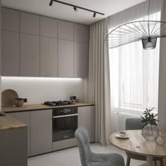 Light gray:  Вбудовані кухні вiд Scavioli, Сучасний