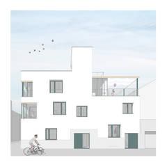 enric rojo arquitectura의  다가구 주택, 북유럽 세라믹