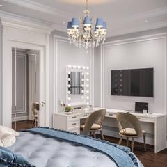 Двухуровневая квартира, г.Москва: Спальни в . Автор – Студия дизайна интерьера OBZOR, Классический