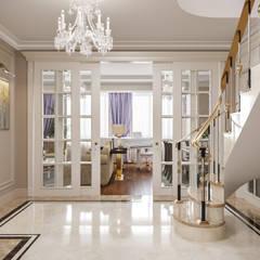 Двухуровневая квартира, г.Москва: Коридор и прихожая в . Автор – Студия дизайна интерьера OBZOR, Классический