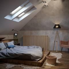 Лунный свет: Спальни в . Автор – ARTWAY центр профессиональных дизайнеров и строителей, Лофт