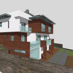 Chalets de estilo  por SERPİCİ's Mimarlık ve İç Mimarlık Architecture and INTERIOR DESIGN, Moderno Compuestos de madera y plástico