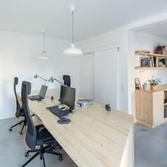 Study/office by undos arquitectura cooperativa, Minimalist Solid Wood Multicolored