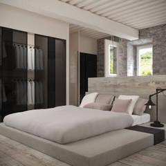 Casa Torre Anno 1000 Camera da letto minimalista di Aeon Studio Minimalista Pietra