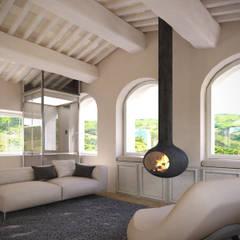 Casa Torre Anno 1000 Soggiorno minimalista di Aeon Studio Minimalista Legno Effetto legno