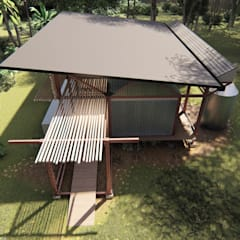 Lean-to roof by Estudio Táva, Country Aluminium/Zinc