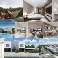 PROYECTOS 2018-2019: Casas de estilo  por UN estudio de Arquitectura, Clásico