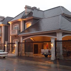 Casas unifamiliares de estilo  por ADL ARQUITECTURA Y CONSTRUCCIÓN / Arq. Alex Francisco de León Ramos, Clásico Piedra