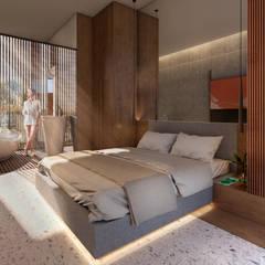 Projekty,  Małe sypialnie zaprojektowane przez Rocarols Studio, Egzotyczny