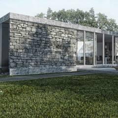 by Boutique de Arquitectura ¨Querétaro [Sonotectura+Refaccionaria] Minimalist مضبوط کیا گیا کنکریٹ