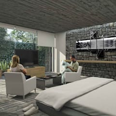 Boutique de Arquitectura ¨Querétaro [Sonotectura+Refaccionaria]의  소형 주택, 미니멀 콘크리트