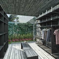 Residencia México Paredes y pisos de estilo minimalista de Boutique de Arquitectura ¨Querétaro [Sonotectura+Refaccionaria] Minimalista Concreto
