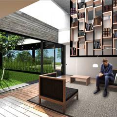 por Boutique de Arquitectura ¨Querétaro [Sonotectura+Refaccionaria] Minimalista Compósito de madeira e plástico