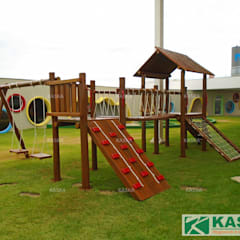 Schools by Kaska Playgrounds, Rustic Wood Wood effect