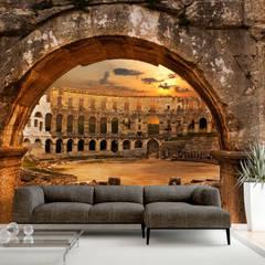 Paredes y pisos de estilo ecléctico de Mobili a Colori Ecléctico Goma