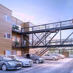 Vientos del Sur : Casas multifamiliares de estilo  por VZ estudio,Moderno
