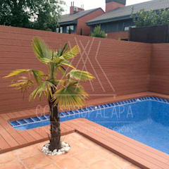 Construpalapaが手掛けた家庭用プール, ラスティック 木 木目調