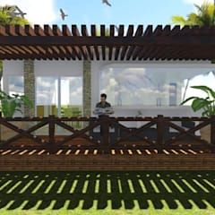 Chalets de estilo  por AMG & JC, Moderno Madera Acabado en madera