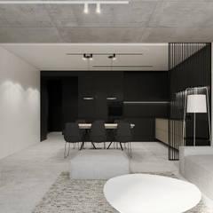 Apartament E w Bielsku-Białej Minimalistyczny salon od TIKA DESIGN Minimalistyczny