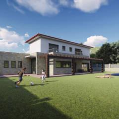 Casas unifamiliares de estilo  por Rexus Design 3D, Mediterráneo Piedra
