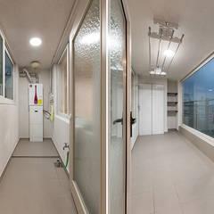 목동 아이파크 2차 아파트 : 곤디자인 (GON Design)의  베란다,모던